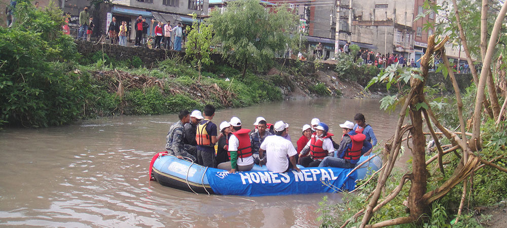 Boating organized by HOMES-Nepal after cleaning Campaign