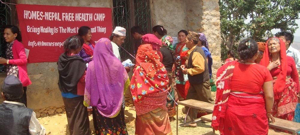 Conducting free health camp with free medicine at Ghorsang,Nuwakot