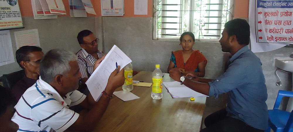 During assisment of Gap Identification and Health Insurance project at Dhanusha's PHCs