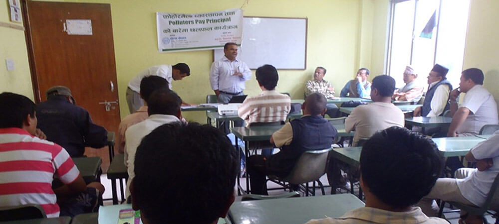 Polluters Pay Principle Discussion program at Chamati, Kathmandu